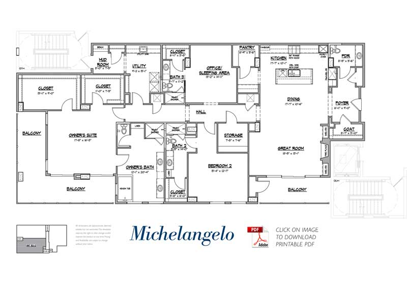 michelangelo floorplan